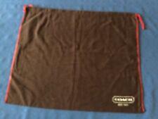 "COACH Brown Storage Dust Bag Purse Cover Drawstring 16"" x 13.5"""