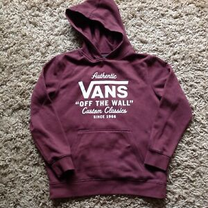 VANS BOYS HOODY LARGE, BURGUNDY