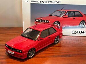 1:18 BMW E30 M3 Sport Evolution Red - AUTOart