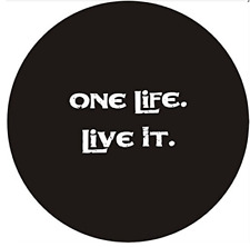 """Spare Tire Cover 17"""" For JEEP Toyota Soft Vinyl Covers ONE LIFE LIVE IT Logo"""