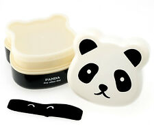 Japanese Panda Bear Bento Box Lunch Container Double Tier Layered Made in Japan