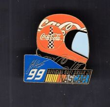 Jeff Burton #99 Coca Cola Helmet Nascar Collectible 1 inch Pin