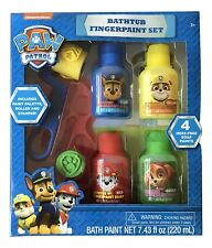 1X Nickelodeon Paw Patrol 7 Piece Mess Free Bath Fingerpaint Play Set: Gift Set