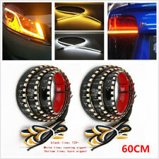 Pair 60CM LED Headlight Strip Daytime Running Light Sequential Flow Lamp 6W IP65