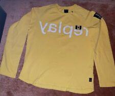 toll Replay Pullover Kinder T-shirt Winter gelb 166cm/14Anni mit replay Aufdruck