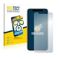 Apple iPhone X,  2x  BROTECT® HD-Clear Screen Protector, hard-coated glass