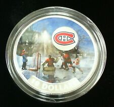 2017 CANADA COLORIZED $10 SILVER MONTREAL CANADIENS PASSION TO PLAY HOCKEY