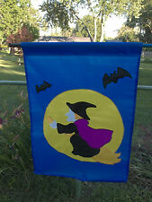 """Vintage New Witch 40""""T X 28""""W Large Garden Decorative Flag ~ Last One!"""