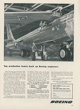 1952 Boeing Airplane Co. Employment Ad B-47 Bomber Being Built Factory Engineers