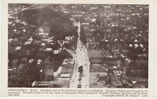 Antique POSTCARD c1910-20s Aeroplane View of Northern Gateway SPRINGFIELD, MA
