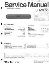 Technics original manual de servicio para sh-ge50 SH ge 50