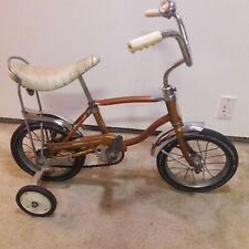 1968 Schwinn Lil Tiger Stingray Banana Seat Bike Coppertone w/ Training Wheels