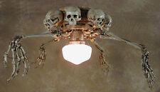 Skeleton Arm Ceiling Fan w/ Skulls, Halloween Prop, Human Skeletons
