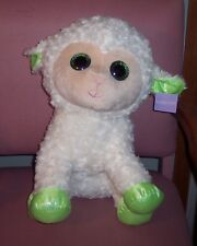 "Holiday Home Green Eyes Jumbo Curly Soft Plush Sheep Lamb Easter 19"" Gift New"