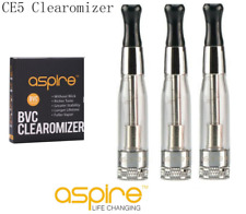 (3-Pack) Authentic Aspire® CE5™ BVC Clearomizer Tank Clear