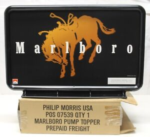 "Philip Morris Marlboro ""BUCKIN BRONCO""Gas Pump Topper POS 07539 / NEW in BOX"