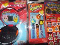 1998 1999 Tiger Pokemon Pokeball handheld game pikachu charizard watch stickers~