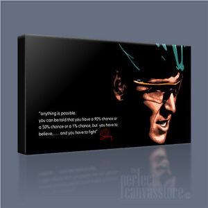 LANCE ARMSTRONG LEGENDARY ICONIC CANVAS ART & INSPIRATIONAL QUOTE Art Williams#1