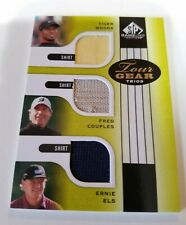 TIGER WOODS EVENT USED GOLF SHIRT CARD FRED COUPLES ERNIE ELS TOUR GEAR TRIOS SP