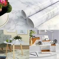 Grey Marble Self Adhesive Wallpaper Vinyl Countertop Kitchen Worktop Covering