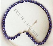 8MM Blau Südsee Shell perlen Halskette 46CM
