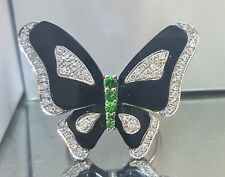 18K WHITE GOLD BUTTERFLY RING