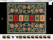 Ottohome Collection Welcome Mat 20 X 30 Inches RD2