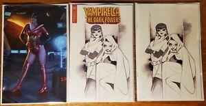 Vampirella The Dark Powers #1 Bartling Exclusive + Momoko 1:50 & 1:20 B&W NM