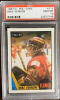 1987 1988 OPC Mike Vernon PSA 10 RC ROOKIE #215 GEM MINT Calgary Flames Redwings