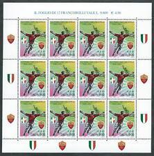 2001 ITALIA MINIFOGLIO ROMA CAMPIONE D'ITALIA CALCIO MNH ** - ED