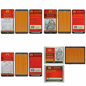 Packs of 12 / 24 Koh-I-Noor 1500 1502 1504 Graphite Pencils Technic Art Graphic