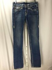 TRUE RELIGION Jeans Billy Super T Section Straight Leg Light Wash Denim Size 27