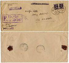 India 1946 impreso oficial + FPO registrado en caja gomígrafo + ohmios overstruck