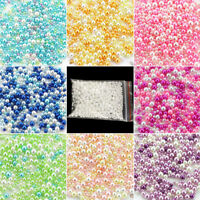 500 pcs Resin Round Pearl Spacer Loose Beads No Hole 2.5-5mm Craft DIY Wholesale