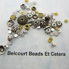500 Assorted Metal Beads Gold and Silver 4mm - 12mm Lead Nickel and Cadmium Free
