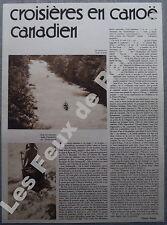 Document Croisiere en canoe canadien Vernejoux Dordogne  1933