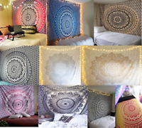 "Mandala Tapestry King Size Wall Hanging 108"" Hippie Bedspread Boho Throw Decor"