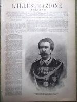L'illustrazione Italiana 24 Aprile 1887 Bertolè Viale Saracco Ricasoli Firenze