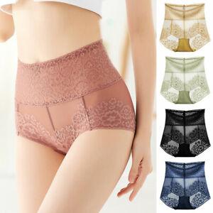 Women High Waist Lace Panties Sexy Seamless Underwear Ladies Knickers Briefs