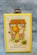 """Hallmark Betsey Clark Wooden Plaque """"Bless You For Being so Nice"""" 3x4.5"""""""
