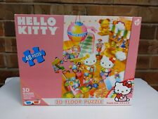 2011 Hello Kitty 3D Floor Puzzle 3' X 2' New In Box 3D Glasses Included 48pcs