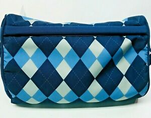 LAPGEAR TABLET IPAD HOLDER PILLOW STAND 12X8X6  BLUE ARGYLE GREAT CONDITION!