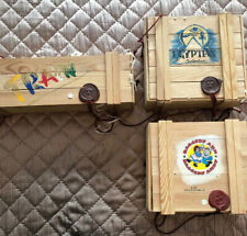 Komozja Polonaise Ornaments Kurt Adler Wood Crate Poland Train Egyptian Raggedy