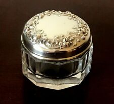 Vintage, Sterling Silver, Gorham, Powder Jar, Repousse With Roses
