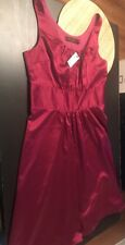 NWT The Limited Womens Dress Sz 8 Maroon Red A Line Formal