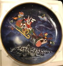 Looney Tunes Collective Plate What's Up Santa-Bugs Bunny Christmas