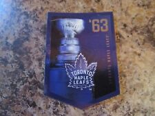2012-13 Panini Molson Canadian Stanley Cup Collection 1963 TORONTO MAPLE LEAFS