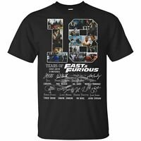 Jamila 18 Years of Fast and Furious 2001 2019 9 Films Signature Tshirt Unisex T-