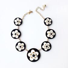 Kate Spade New York mod floral necklace, black/white