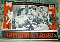 GUARDIE E LADRI fotobusta piccola originale 1951 MONICELLI STENO TOTO' FABRIZI
